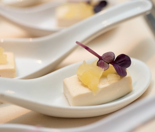 Earl Grey Panna Cotta with Pickled Honeycrisp Apples
